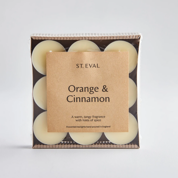 Orange & Cinnamon Scented Tealights