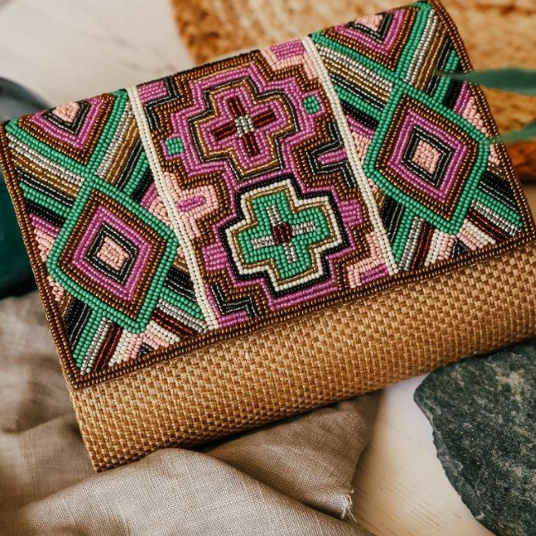 Boho Clutch Bag - Cross