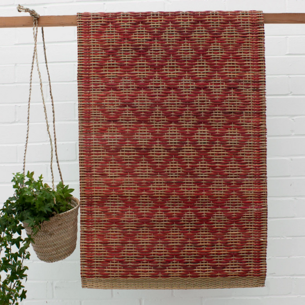 Woven Moroccan Mat - Red