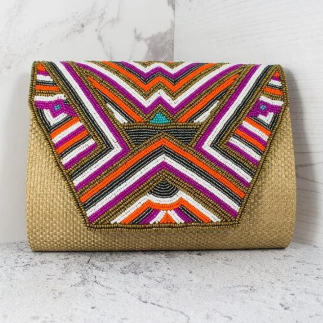Boho Clutch Bag - Point