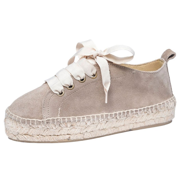 Handmade Taupe Sneakers
