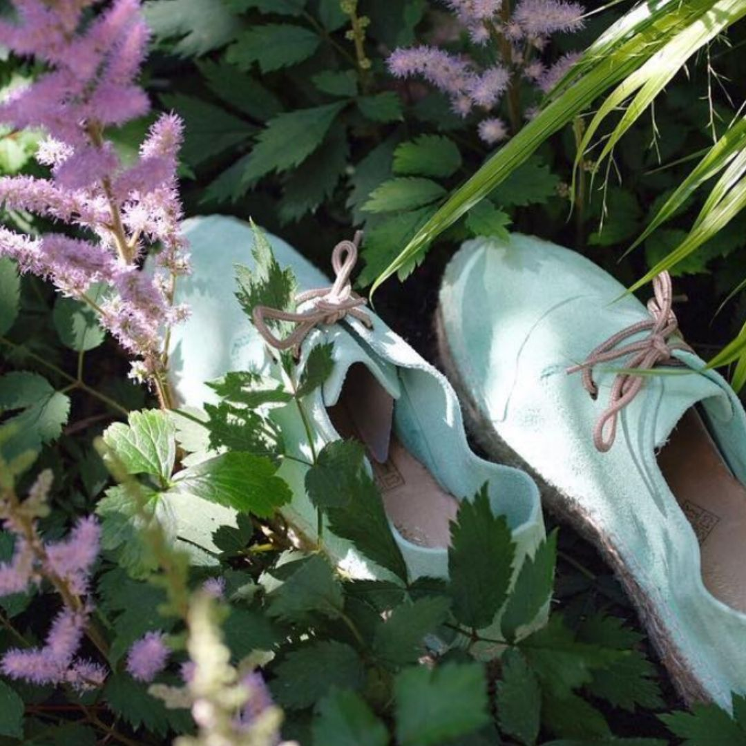 Handmade Espadrilles In Cool Mint