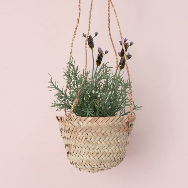 Natural Handwoven Hanging Planter / Basket