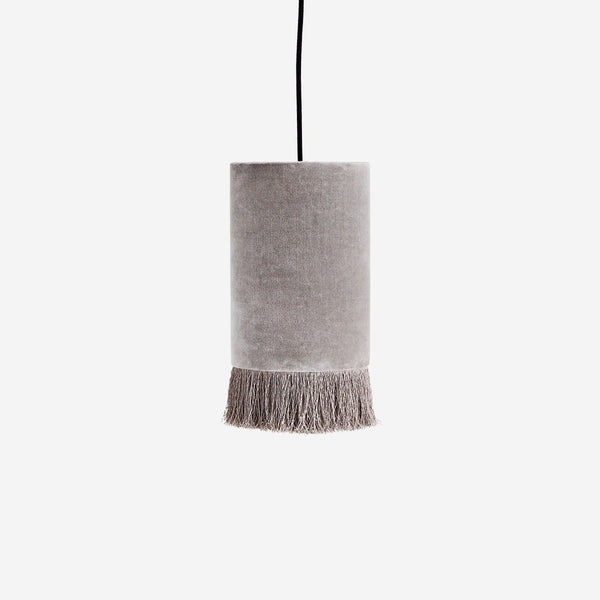 Velvet Pendant Ceiling Light With Boho Trim
