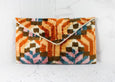Statement Handcrafted Clutch Bag - Orange
