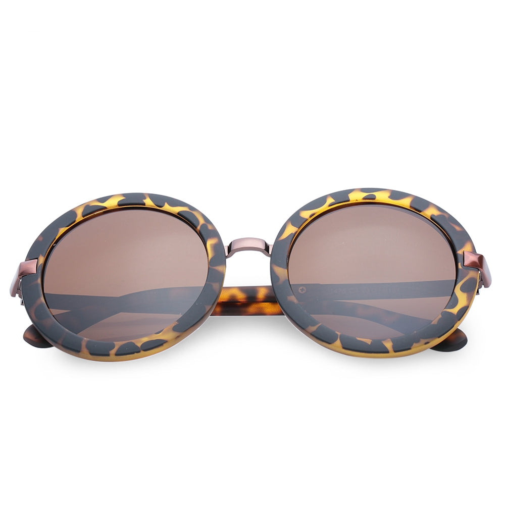 Chic Unsmooth Alloy Splice Leopard Sunglasses For Women