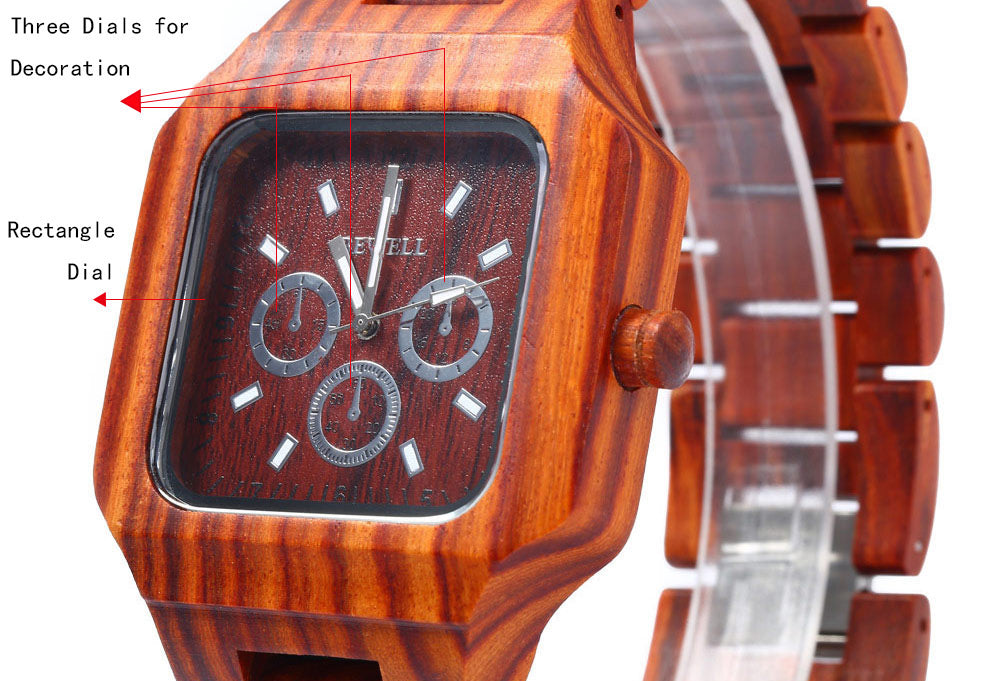 Bewell ZS - 001A Wooden Men Watch Analog Imported Quartz Movement