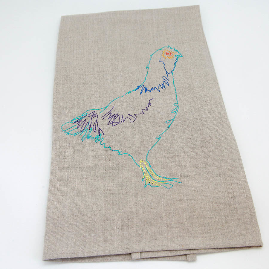 Blue Hen Tea Towel