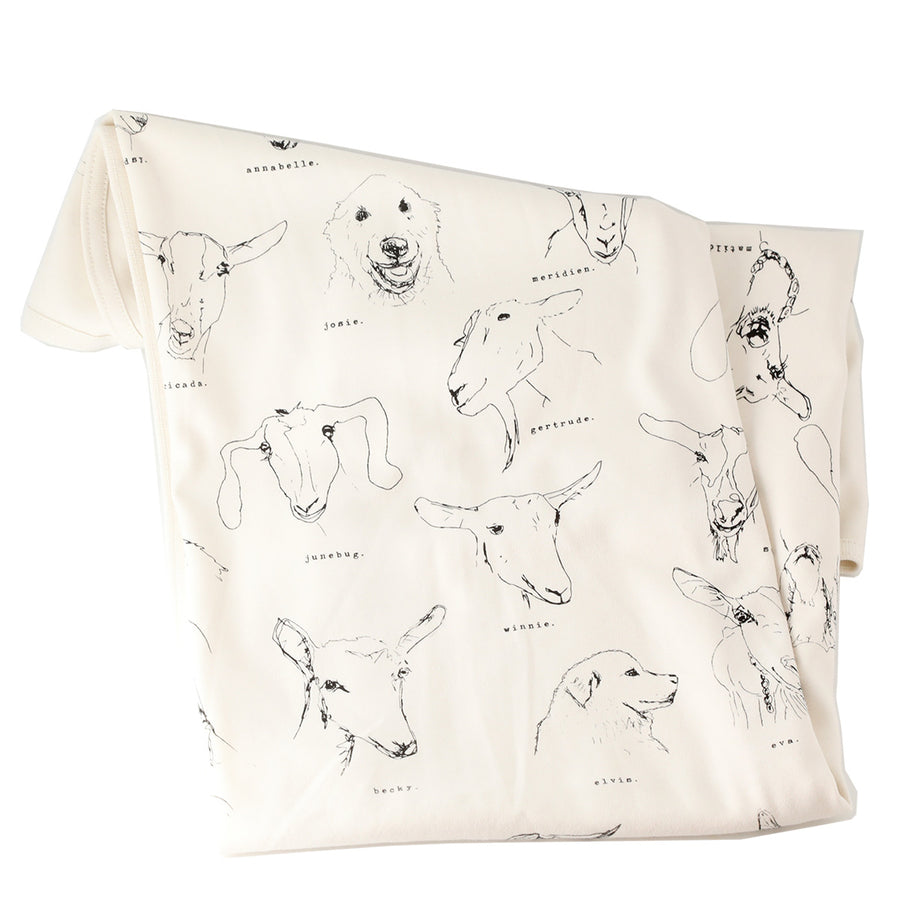 Organic Baby Blanket featuring GOATS!