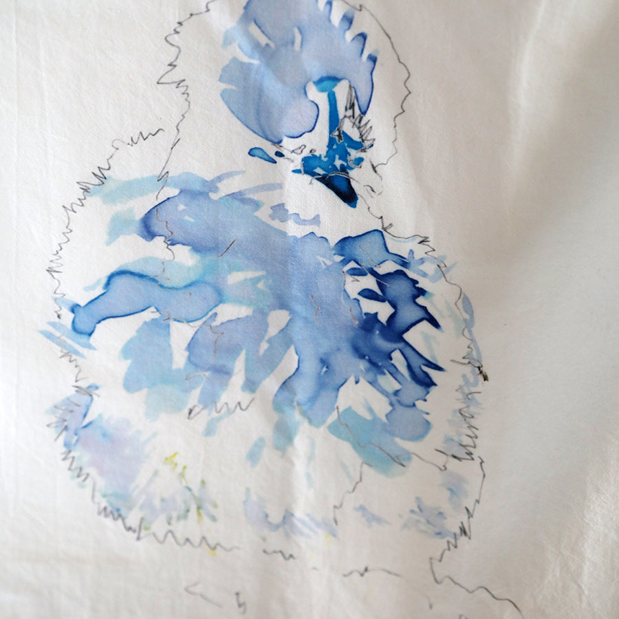 Silkie Tea Towel - Blue