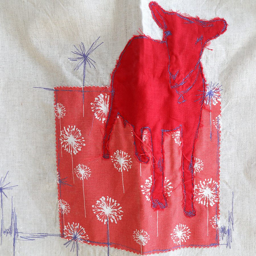one.of.a.kind goat collage tea towel