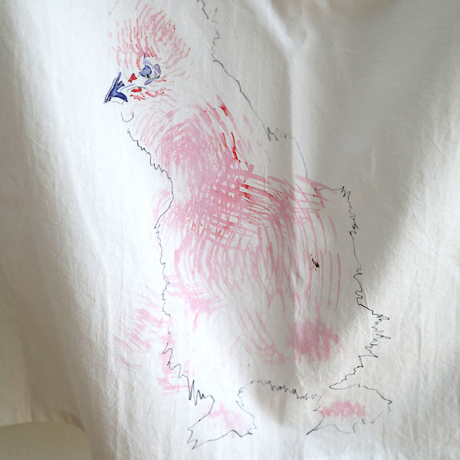 Silkie Tea Towel - Pink
