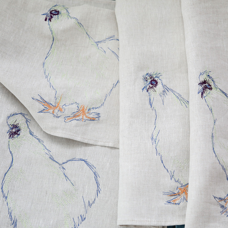 NEW!! Silkie Rooster Tea Towel