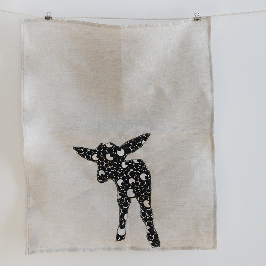 the hip goat collage tea towel