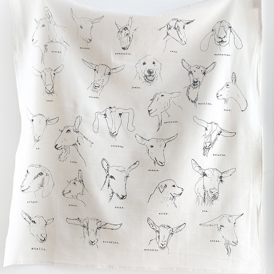 All the Goats Tea Towel