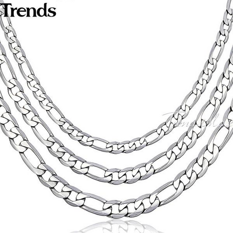 45/55/60cm Silver Cuban Link Necklace