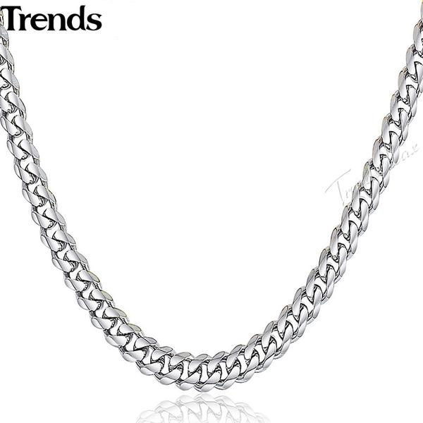 55-60cm Silver Cuban Link Necklace