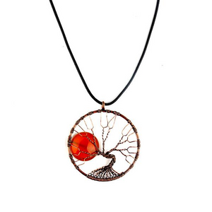Antique Style Tree Of Life Necklace