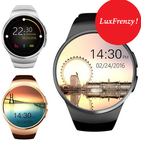 SmartWatch: Android/iPhone KW18 Bluetooth Full Screen Support SIM TF Card & More