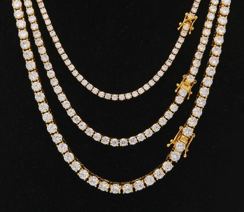 "18/20/24"" Urban Imitation Round Cut Diamond Necklace"