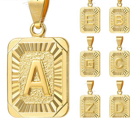 UNISEX A-Z Necklace Pendants