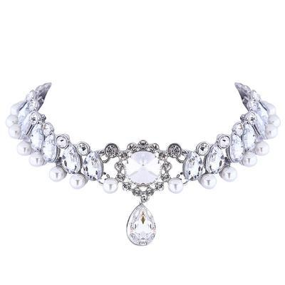 Drop Crystal  Collar Necklace