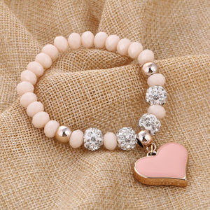 Heart Themed Charm Bracelet