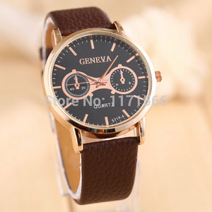 2nd Edition Casual Quartz Movement Timepiece w/ Bycast Leather Strap