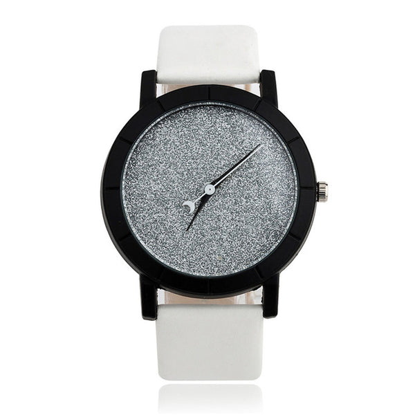 Quartz Watch w/ Bycast Leather Strap