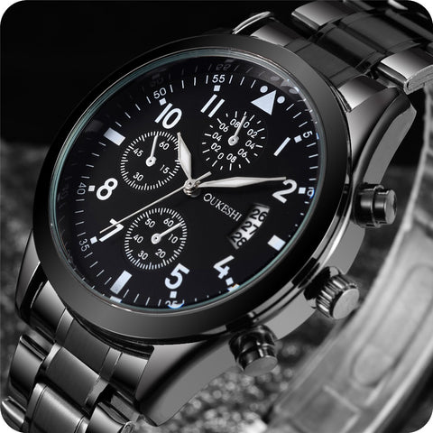 Stainless Steel Quartz Casual Watch