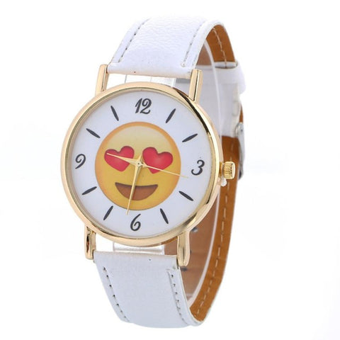 UNISEX Emoji Series Quartz Wristwatch w/ Bycast Leather Iss. 2