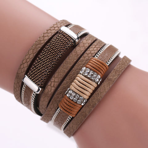 UNISEX Multilayered Bracelet w/ Genuine Bracelet
