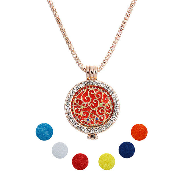 Unisex Necklace w/ Aromatherapy Perfume Diffuser Locket (Mod. 2)