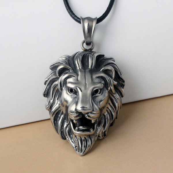 King Of The Jungle Lion Pendant Necklace