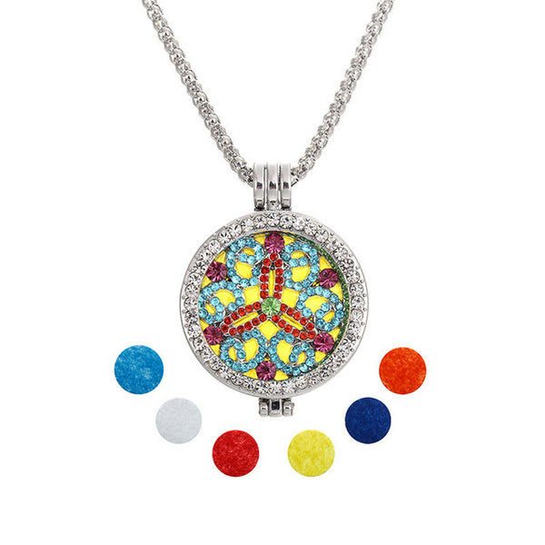 Unisex Necklace w/ Aromatherapy Perfume Diffuser Locket (Mod. 11)