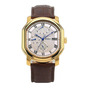 Limited Edition Sapphire Luxury Automatic Watch w/ Genuine Leather Strap