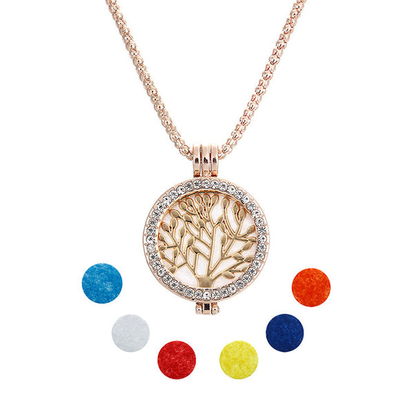 Unisex Necklace w/ Aromatherapy Perfume Diffuser Locket (Mod. 5)
