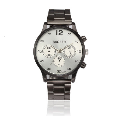Stainless Steel Casual Quartz Timepiece