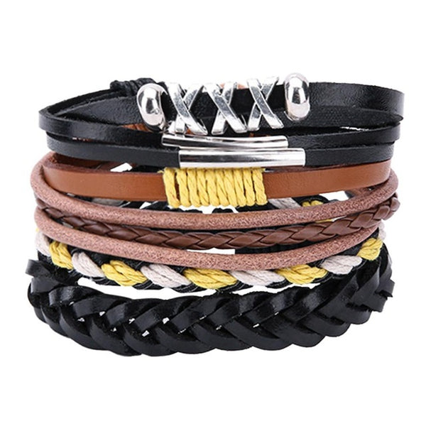 """...Hope, Dream, Love..."" Trendy Leather Bracelet"
