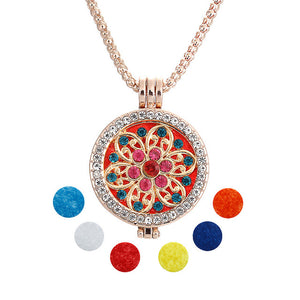 Unisex Necklace w/ Aromatherapy Perfume Diffuser Locket (Mod. 8)
