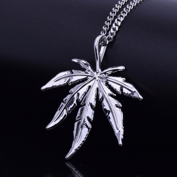 Cannabis Themed Pendant Necklace