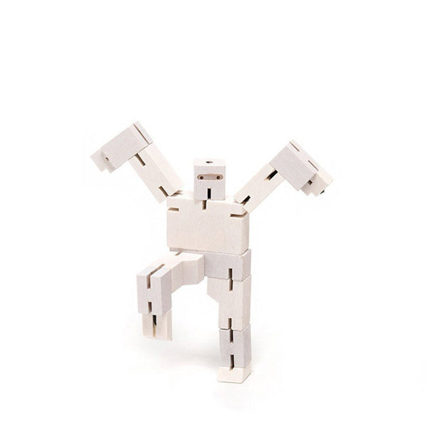 Areaware wooden toys cubebot white micro puzzle