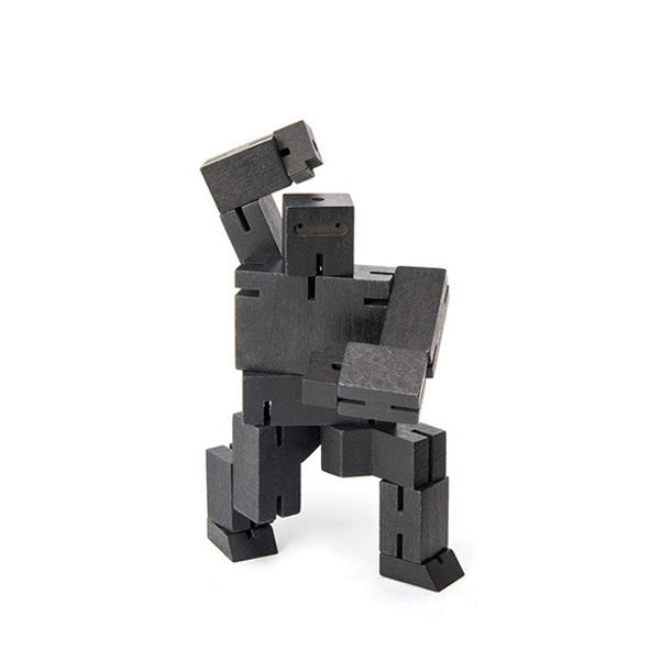 Areaware wooden toys cubebot black small puzzle