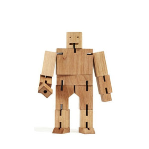 Areaware wooden toys cubebot natural small puzzle