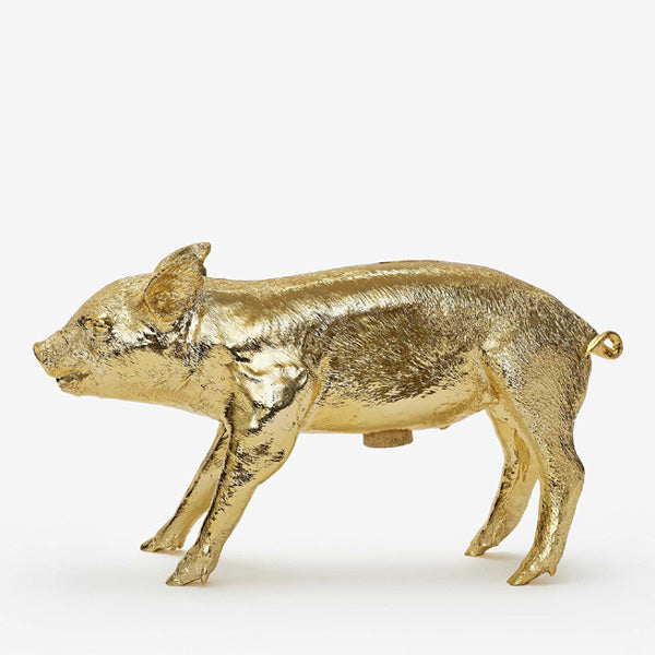 Areaware Reality Bank in the Form of a Pig - Gold Chrome