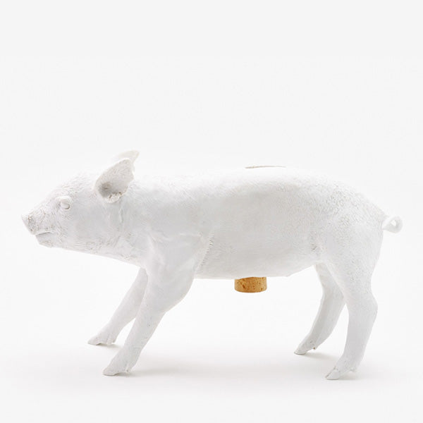 Areaware Reality Bank in the Form of a Pig - Matte White