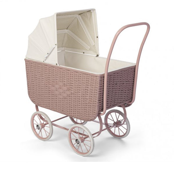 By Astrup Doll Pram - Retro Rattan