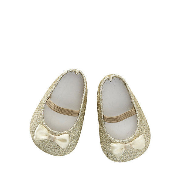 By Astrup Doll Shoes - Glitter Gold