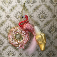 Glass Shaped Christmas Bauble - Banana