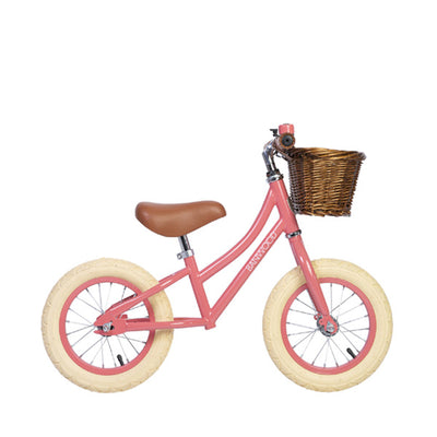 "Banwood First Go 12"" Balance Bike – Coral"